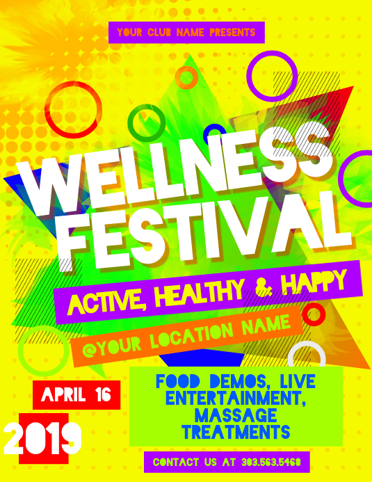 Wellness Festival Flyer Template Postermywall