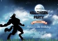 Werewolf invitation A6 template