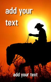 FREE!!! Western Adventure Novel Book Cover Design Template