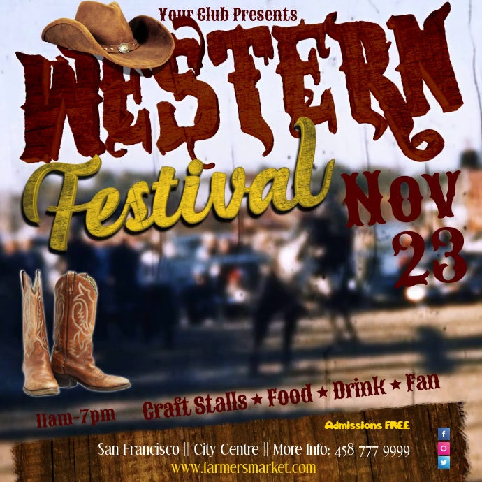Western Festival Video Template