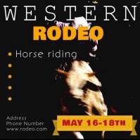 Western Rodeo Instagram Instagram-opslag template