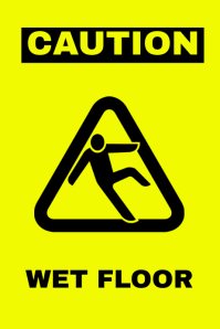 Wet Floor Sign Template