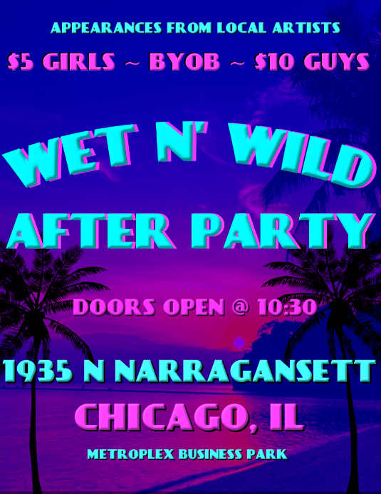 Wet N' Wild party flyer