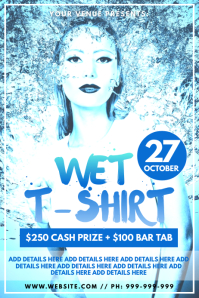 Wet T-Shirt Competition Poster