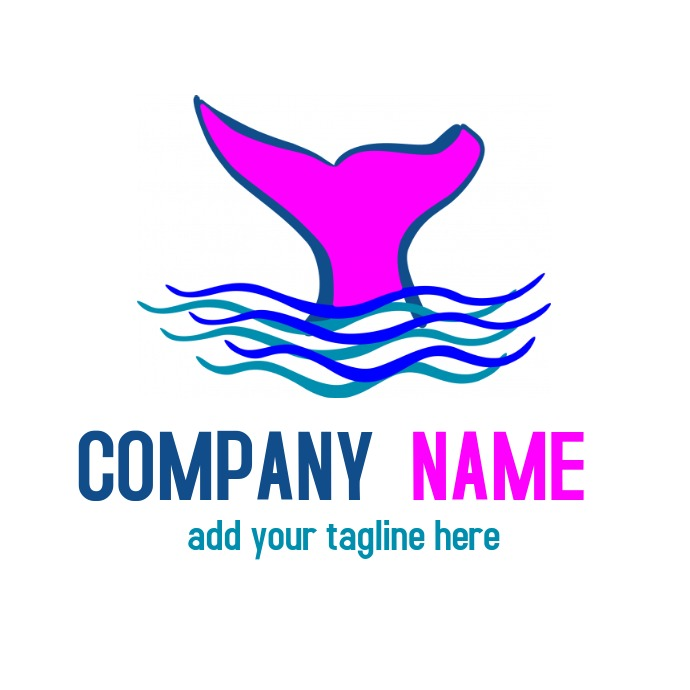 whale animal logo