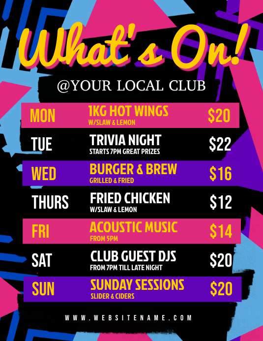 What's On Flyer