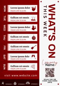 what's on this week pub calendar template des A4