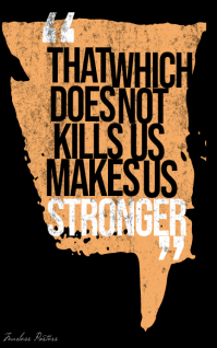 What does not kill makes us stronger poster Kindle-cover template