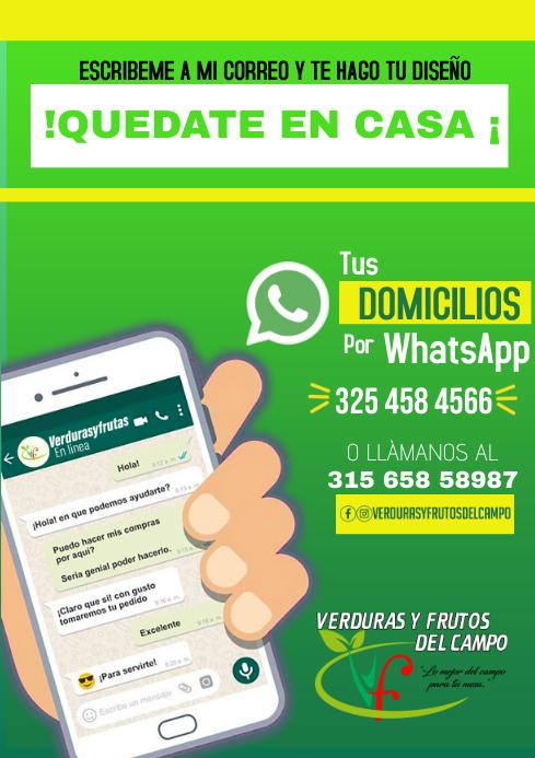 Whatsapp communication A4 template