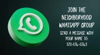 WhatsApp Group Invitation Social Media Post งานแสดงผลงานแบบดิจิทัล (16:9) template
