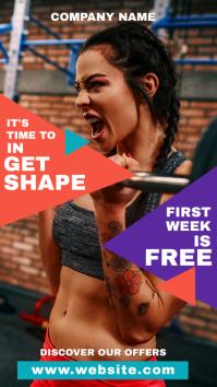 whatsapp status gym and fitness advertisement