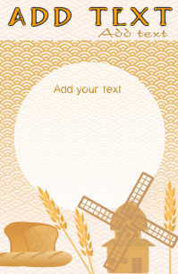 wheat cereal - windmill and bread presentatio
