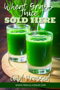 Wheat Grass Juice Promotion Template