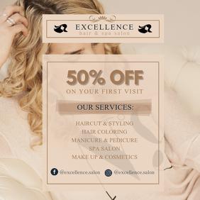 Wheat Hair Salon Service List Ad