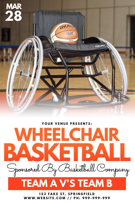 Wheelchair Basketball Poster template
