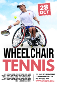 Wheelchair Tennis Poster