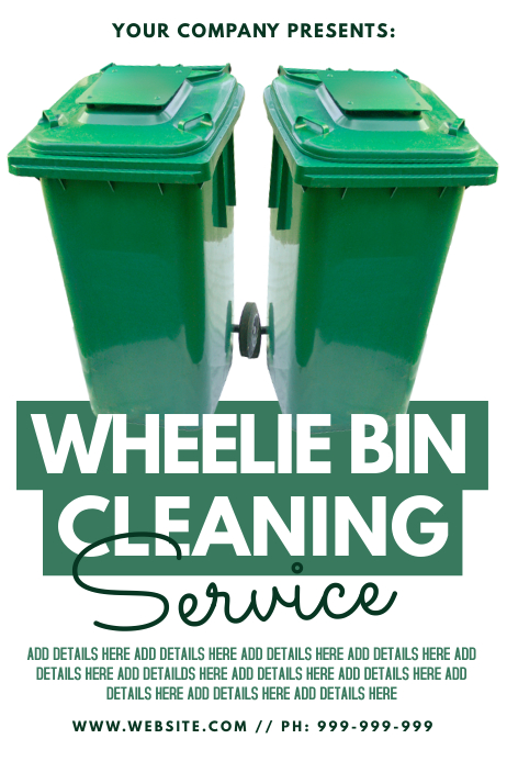 Wheelie Bin Cleaning >> Wheelie Bin Cleaning Service Template Postermywall