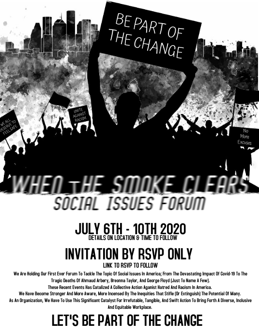 When The Smoke Clears Pamflet (Letter AS) template