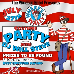 Wheres Wally Party โพสต์บน Instagram template