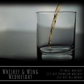 Whiskey & Wing Wednesday Video Quadrado (1:1) template