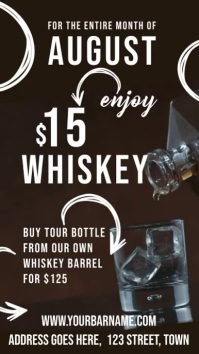 Whiskey Bar Digital Display Video Template