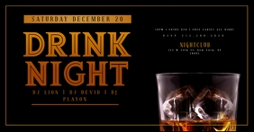 WHISKEY DRINK NIGHT Flyer Template Facebook Shared Image