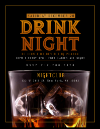 WHISKEY DRINK NIGHT Flyer Template