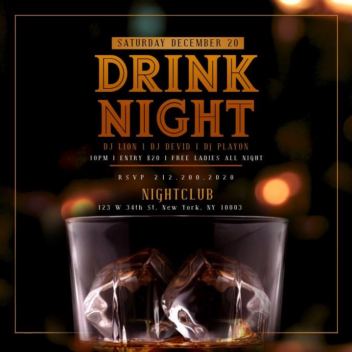 WHISKEY DRINK NIGHT iNSTAGRAM Template Instagram-opslag