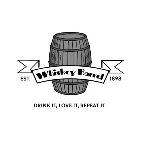 whiskey icon barrel logo template