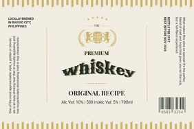 Whiskey Label Custom Design template