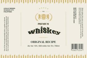 Whiskey Label Custom Design template