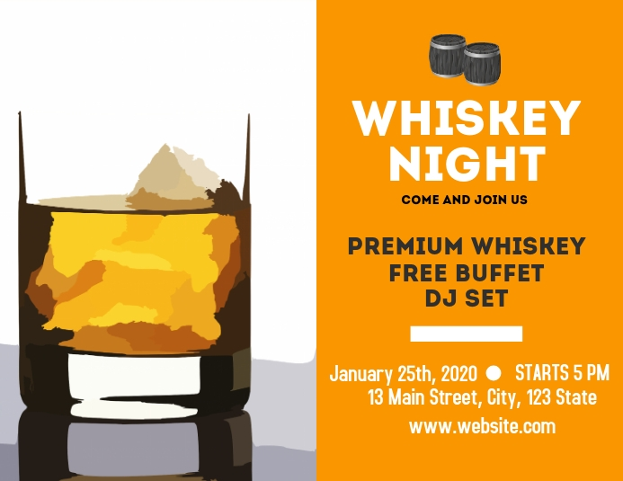 Whiskey Night flyer advertisement