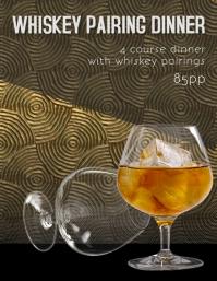 Whiskey Pairing Dinner Flyer Template