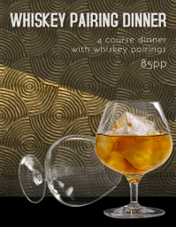 Whiskey Pairing Dinner Flyer Template