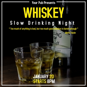 Whiskey slow drinking night party for pub or