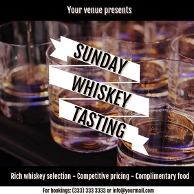 Whiskey tasting digital ad