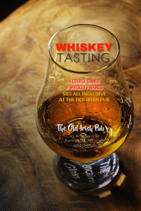 Whiskey Tasting Dinner Flyer