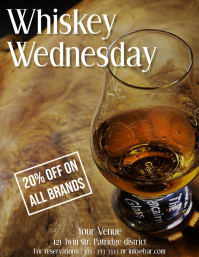 Whiskey Wednesday template flyer