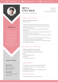 White, Pink and Grey Modern Resume A4 template