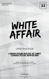 White Affair Party Flyer Template Couverture Kindle