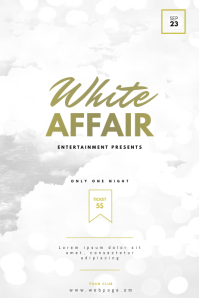 White Affair Party Flyer Template