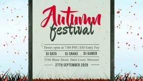 White and Blue Autumn Event Facebook Cover Vi