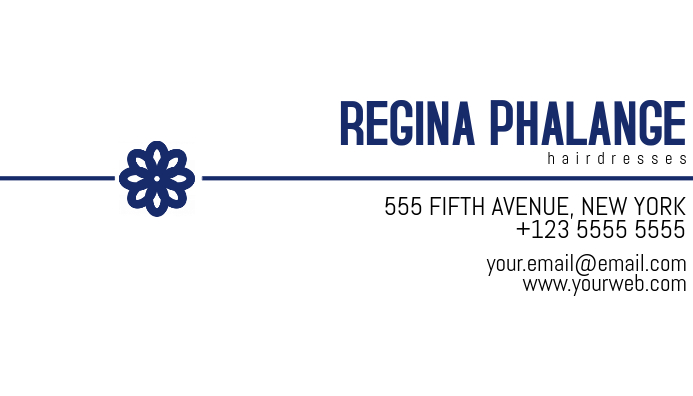 white and blue business card template