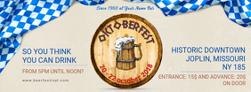 White and Blue Oktoberfest Facebook Cover Template