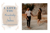 White and Blue Wedding Anniversary Poster Póster template