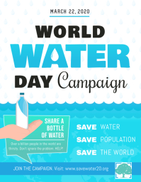 White and Blue World Water Day Flyer