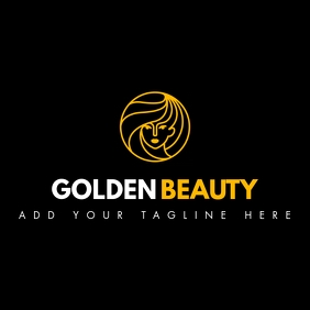 white and golden color beauty logo template