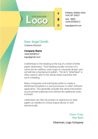 White and Green Corporate Letterhead A4 template