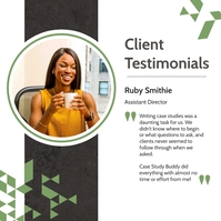 White and green testimonial instagram post template