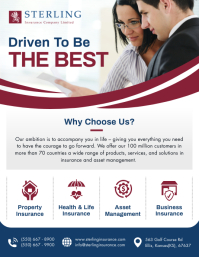 White and Maroon Insurance Flyer